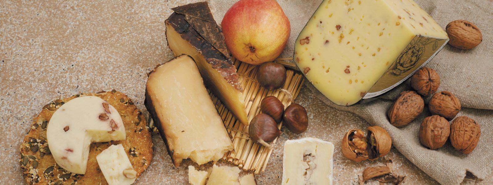 Stilbild mit dem Hochgenuss Käse dekorativ angerichtet