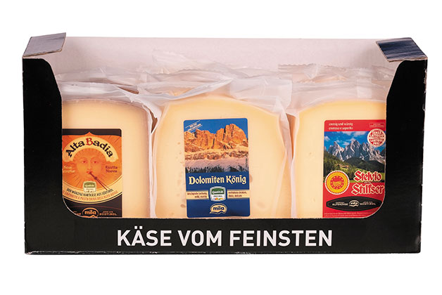 Käsesortiment aus Südtirol