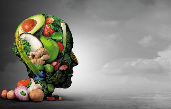 Vegan-Kopf