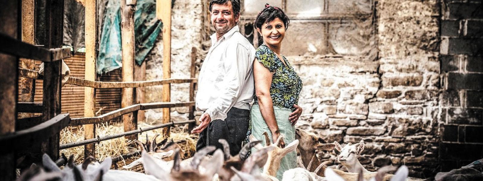 Familie Cora auf ihrem Bauernhof im Piemont